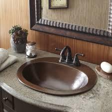 drop in bathroom sink sizes bathroom sink amazing sinkology seville drop in copper bath sink