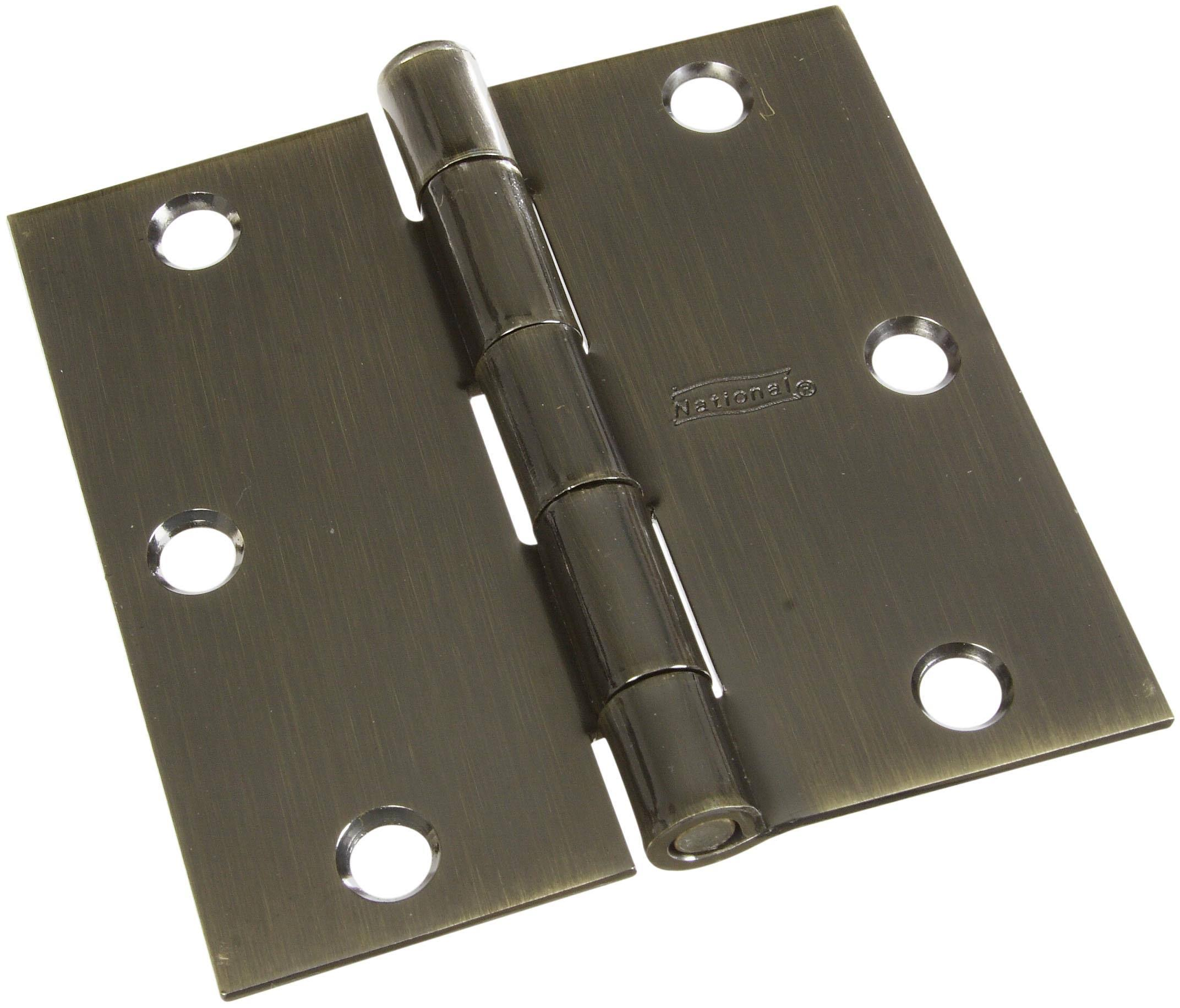 National Hardware Door Hinges 3-1/2in