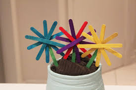 Popsicle Stick Flowers My Kid Craft Colorful Mini Wishing Well Made From Icecream Sticks