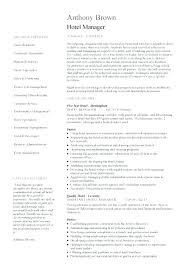 Sample Resume For Hotel Manager General Awesome Templates Beautiful Restaurant