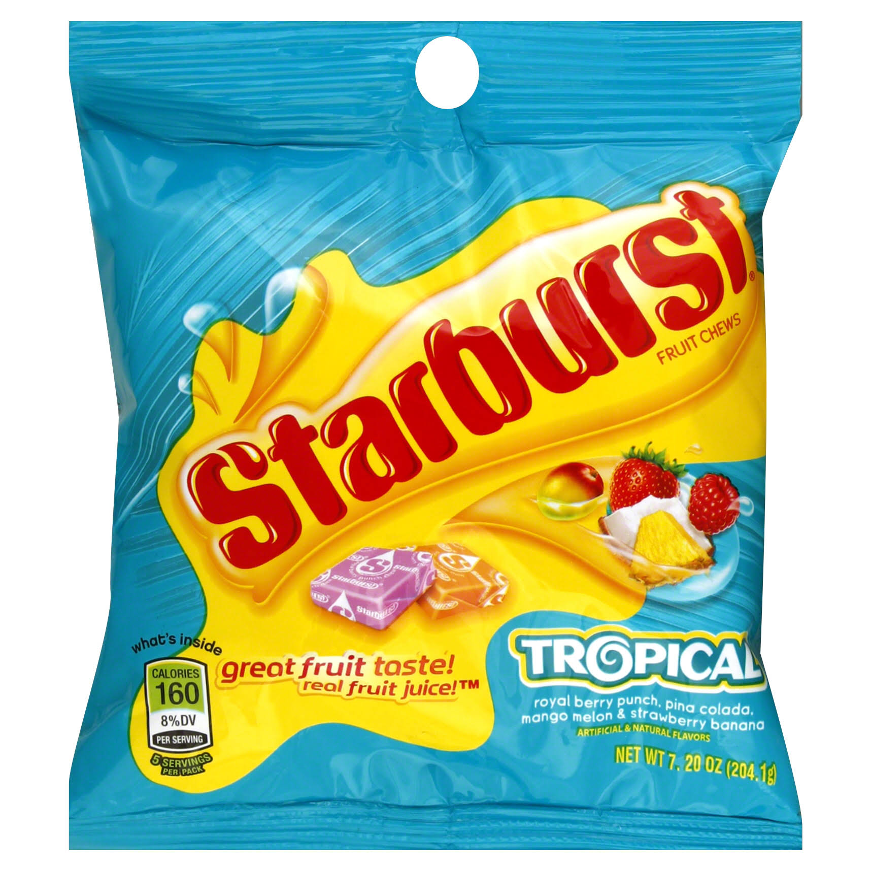 Starburst Fruit Chew Candy - Tropical, 7.2oz, 12ct
