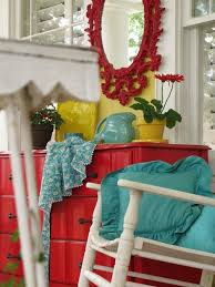 Yellow Black And Red Living Room Ideas by Colorful Cottage Decorating Ideas In Red Yellow Blue Black U0026 White