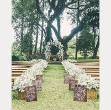 Rustic Wedding Aisle Signs From Mulberry Market Design