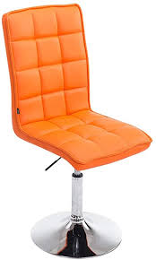 clp esszimmerstuhl peking v2 mit polsterung i drehbarer und höhenverstellbarer lehnstuhl mit kunstlederbezug farbe orange
