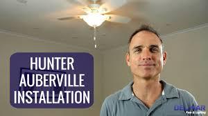 Ceiling Fan Balancing Kit Instructions by Hunter Auberville Ceiling Fan Installation Youtube