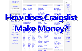 How Does Craigslist Make Money Online? | ToughNickel