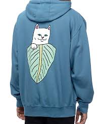 cat hoodies ripndip safari nermal blue hoodie zumiez