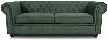 sofa chesterfield asti 3 sitzer 3 er design couchgarnitur sofagarnitur holzfüße polstersofa wohnzimmer grün 74