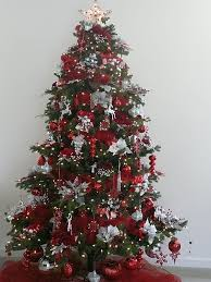 Interior Christmas Tree Trimming Kits Custom Ornaments Theme Magnificient Red And Silver Decorations New 6