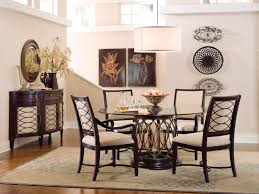 Round Dining Room Sets by Intrigue Glass Top Dining Table