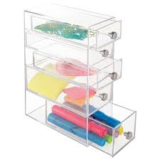 Sterilite Storage Cabinet Target by Amazon Com Interdesign Clarity 5 Drawer Cosmetic Organizer For