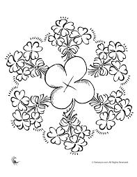 Irish Coloring Pages Celtic Mandalas Shamrock Mandala Fantasy