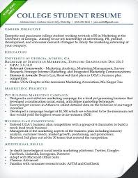 Internship Resume Objective Finance Example For College Student Sample
