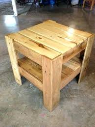 Tables Made Out Of Pallets Bedside Or End Table From Dining