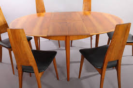 Dining Table Set With Six Chairs Extendable Designed By Ernst Martin Dettinger