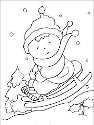 Winter Coloring Pages Printable Free For Kindergarten Sheets
