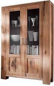 möbel ideal vitrine massivholz eiche schrank massiv