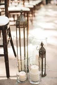 Rustic Lantern And Candles Wedding Aisle Decor