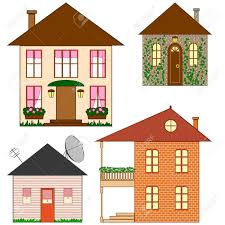 100 Four Houses Made In Simple Style Royalty Free Cliparts Vectors And