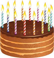 Orange clipart birthday cake 3