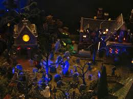 Lemax Halloween Village Displays by 282 Best Halloween Village Images On Pinterest Christmas Houses
