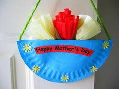 Mothers Day Craft Roses In A Wall Hanging