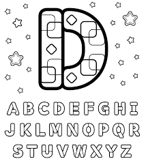 Letter D Printable Alphabet Coloring Pages