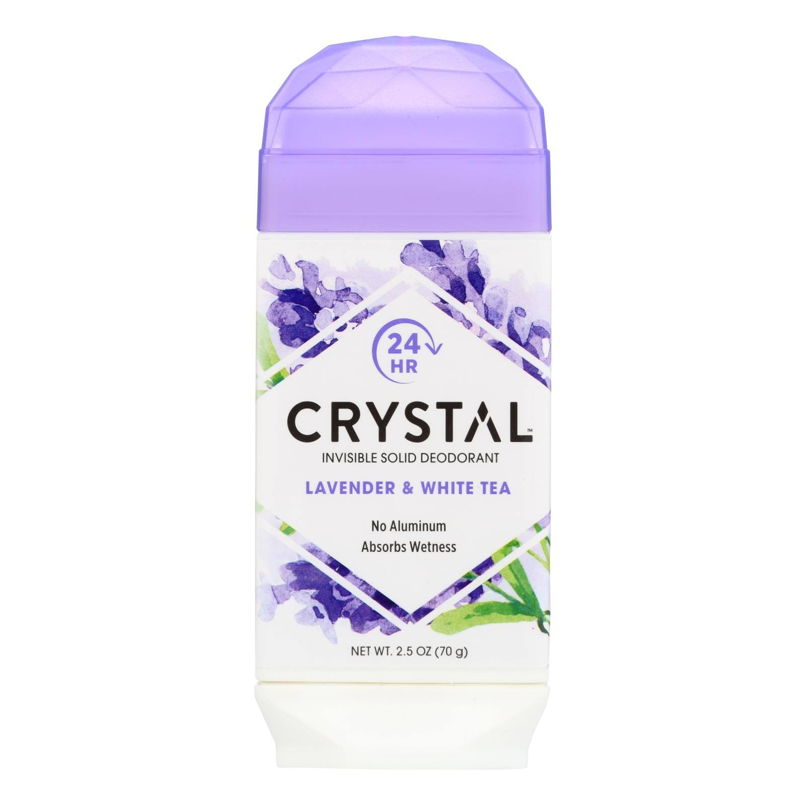 Crystal Body Deodorant Natural Deodorant - Lavender and White Tea, 2.5oz