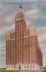 POSTCARD – CHICAGO – AMERICAN FURNITURE MART BUILDING – c1950