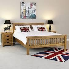 Rustic Oak 6ft Super King Size Bed High Foot Board Solid Bedroom