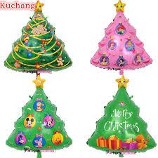 10pcs7860cm Large Pink Princess Christmas Tree Foil Balloon Green Animals Merry