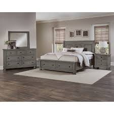 Vaughan Bassett Reflections Dresser by Reflections Antique Pewter Sleigh Storage Bed Bernie U0026 Phyl U0027s