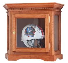 Corner Display Case Hand Crafted Wood With Glass Sides Premium