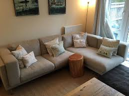ikea nockeby two seat sofa with right chaise longue in high