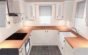 Medium Size Of Countertops Backsplash U Shape Kitchen Butcher Block Countertop White Stained Cabinet