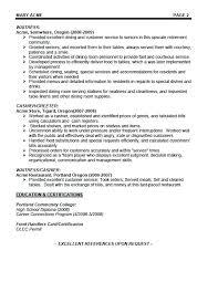 Station Head Waiter Job Description Of Waitress For Resume Skills Cover De
