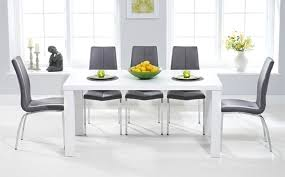 Creative Ideas Grey And White Dining Table Room 47 Awesome Sets