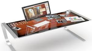 apple bureau le bureau du futur tactile et interactif technology desk