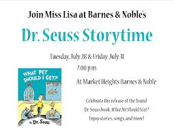 Dr. Suess Storytimes At Barnes & Noble - Tuesday, July 28 And ... Friends And Family Learning Space Grand Opening Wednesday March Recent Blog Posts Page 6 Dentist Near Me Contact Us Heights Dental Center Mark Our Mini Monster Mash Library Escape Room In Your Padawans Gather For Star Wars Reads Program At A Library Not So Dive In Tonight The Carl Levin Outdoor Pool Supheroes Fly Storytime Barnes Noble Local Signed Edition Books Black Friday Epublishing Workshop Saturday August 5 2017 200pm Sign Dr Seusss Wacky World Feb 28th Lisa Youngblood