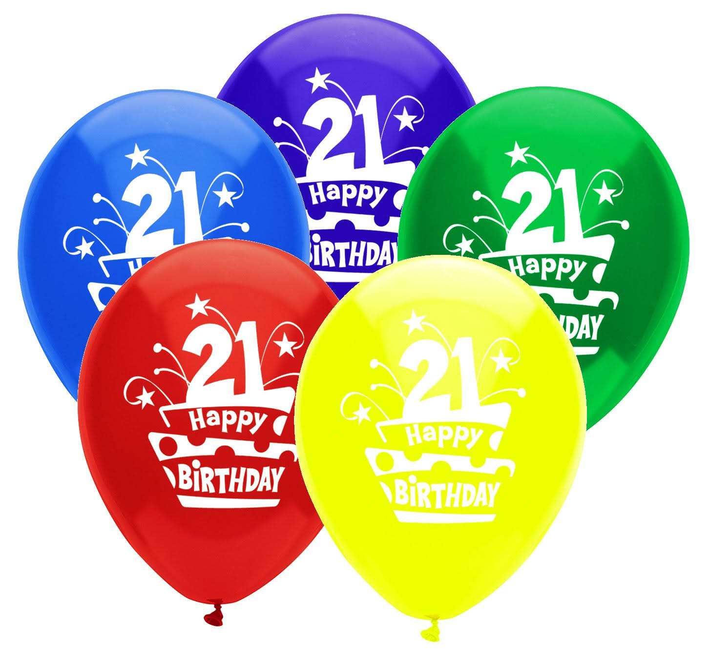 PartyMate 24638 Printed Latex Balloons, 8-Count, Assorted Colors