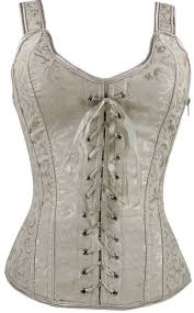 imilan women boned lace up corsets and strap bustiers top