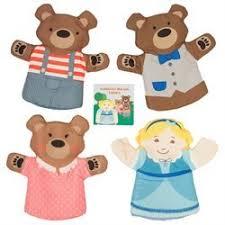 Goldilocks And The Three Bears Hand Puppet Set