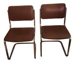 100 Bertolini Furniture Leather Cantilever Chairs A Pair Chairish