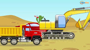 100 Trucks Cartoon The Diggers And Car Friends Construction Service