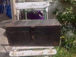bureau d olier ancien en bois 1 place ancienne caisse en bois type munitions coffre deco atelier eur 89