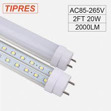 2pcs lot t8 2ft led light l 20w 110v 220v 600mm superior