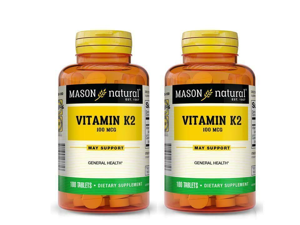Mason Natural - Vitamin K2 100 mcg - 100 Tablets