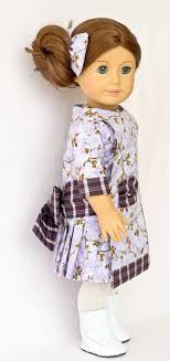 1912 Apron Dress In Two Cotton Fabrics For Spring The Plaid Contrasting Fabric Serves As