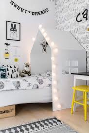 Bedroom Exquisite White Unisex Children Design Inspiration Presenting Wondrous Canopy Home Shaped Bed Combine