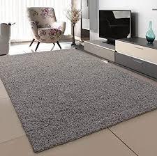 sanat teppich wohnzimmer hellgrau hochflor langflor teppiche modern größe 120x170 cm